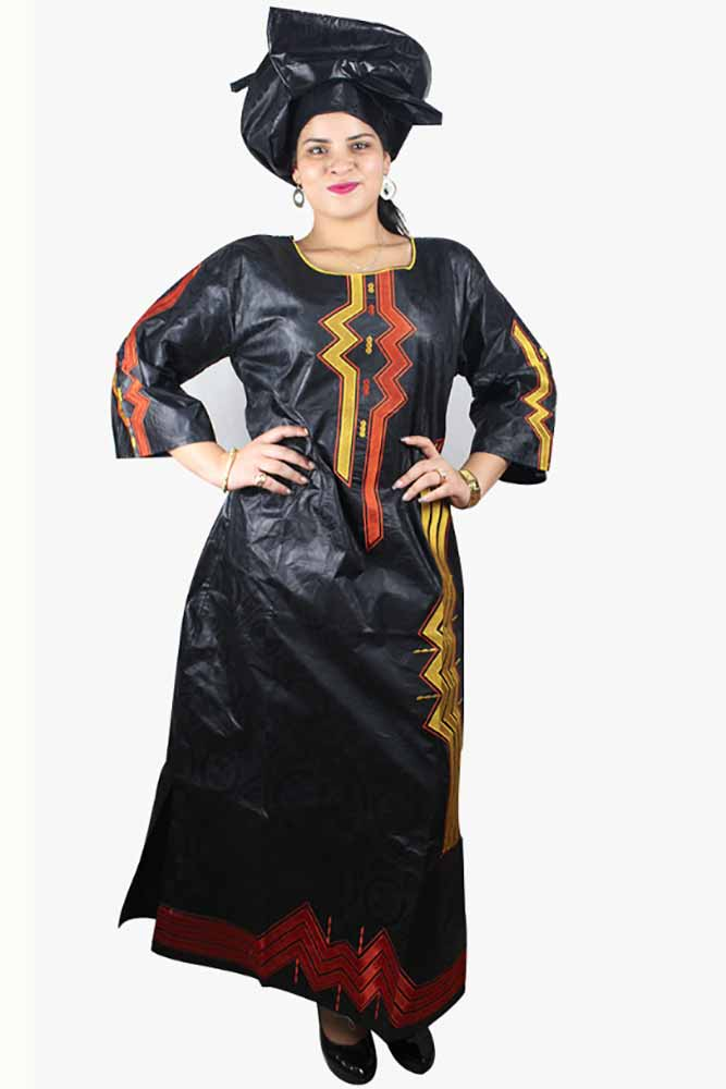 Dahikimall  Bazin Riche Embroidery Dress With Headtie