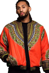 Dashikimall Retro Ethnic Men Dashiki Jacket African Print Jacket
