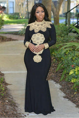 Dress - African Embroidery Dashiki Traditional Maxi Dresses