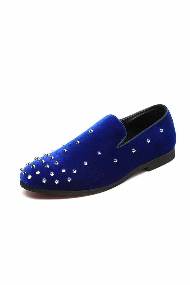 Genuine Leather Rivet Loafers