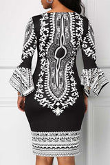 Dashikimall Women Printing Plus Size Dress