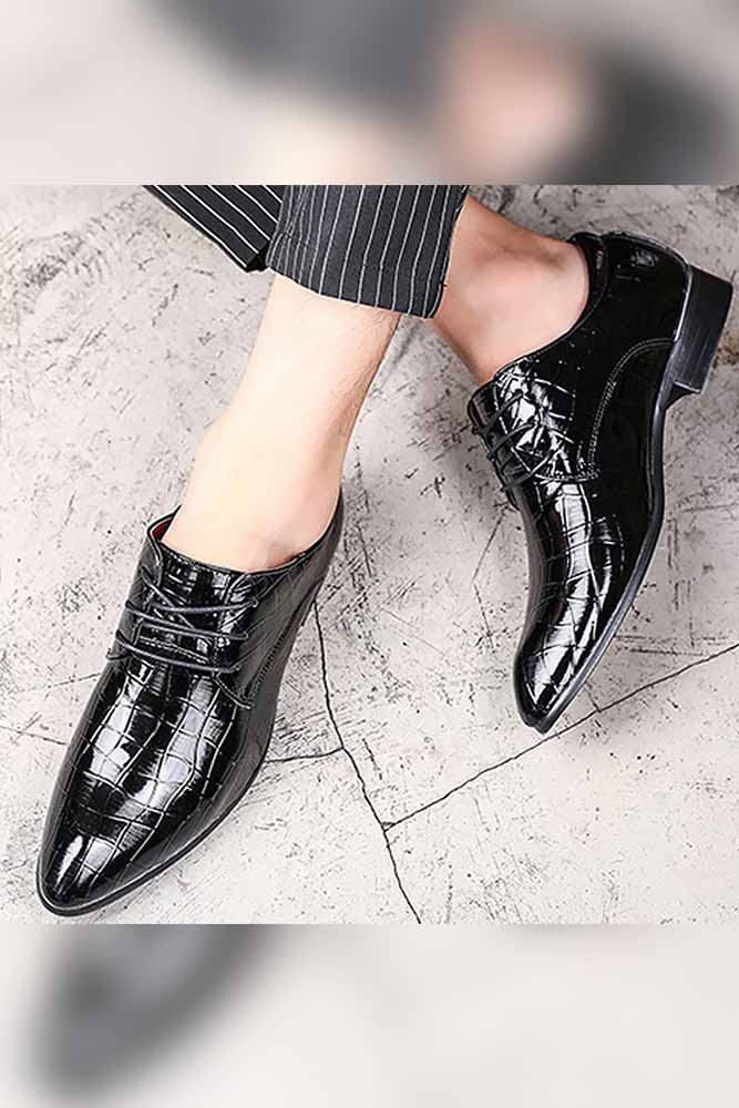 Pointed Toe Lace-up Formal Shoes