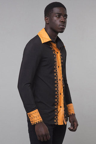 Dashikimall Folk Style Lapel Long Sleeve Shirt