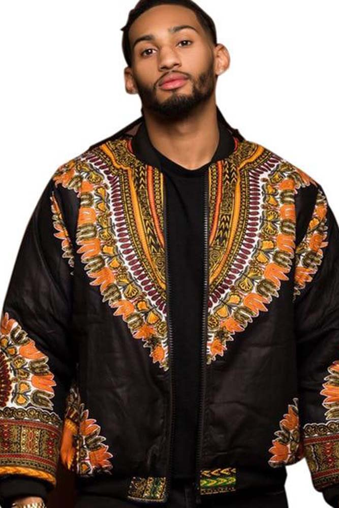 DashikimallRetro Ethnic Men Dashiki Jacket African Print Jacket
