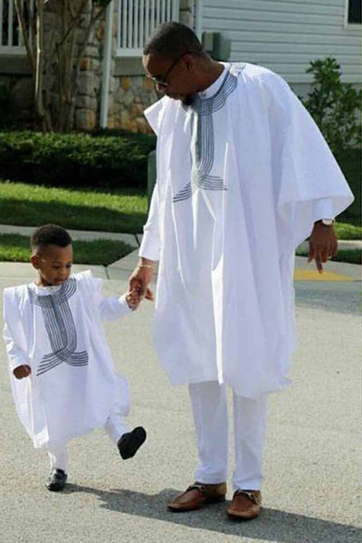 Father Son Dashiki African 3 Pieces Set
