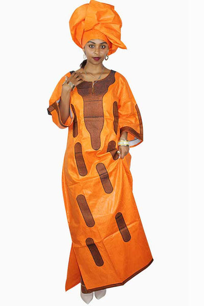 Dashikimall African Bazin Riche Embroidery Design Dress