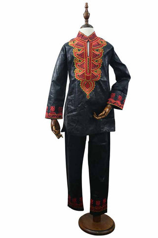 Dashikimall African Embroidery Kids Set