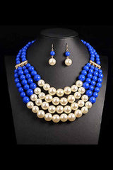 African  Women Beads Jewelry Set
