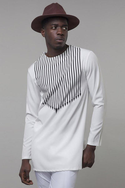 Dashikimall  White Shirt African Clothing
