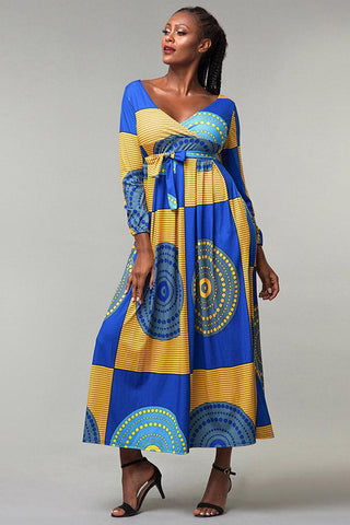Dashikimall African Dress Digital Printing Dress