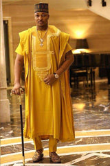 Dashikimall African Agbada Traditional Man's Sets