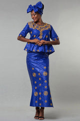 Dashikimall African Design Baizn Riche Dress Set