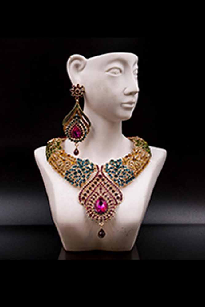 Dashikimall Beads Necklace And Earrings Set