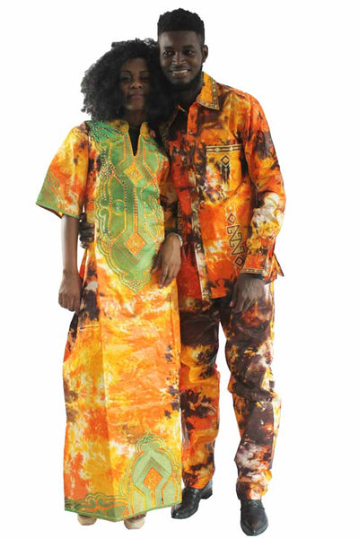 Dashikimall African Traditional Couples Outfits