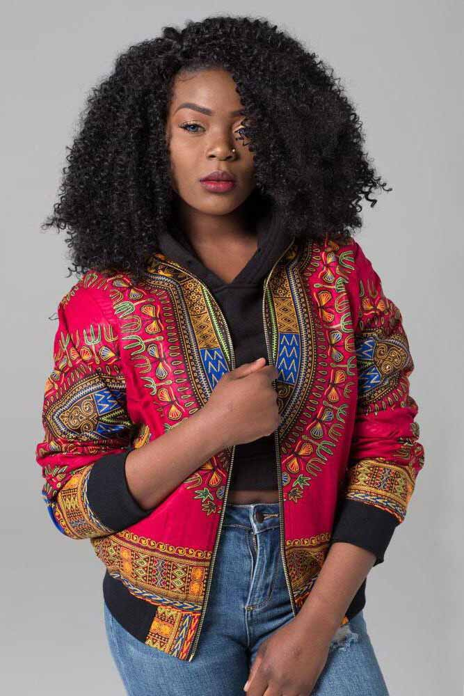 Dashikimall Retro Ethnic African Dashiki for Women Print Coat
