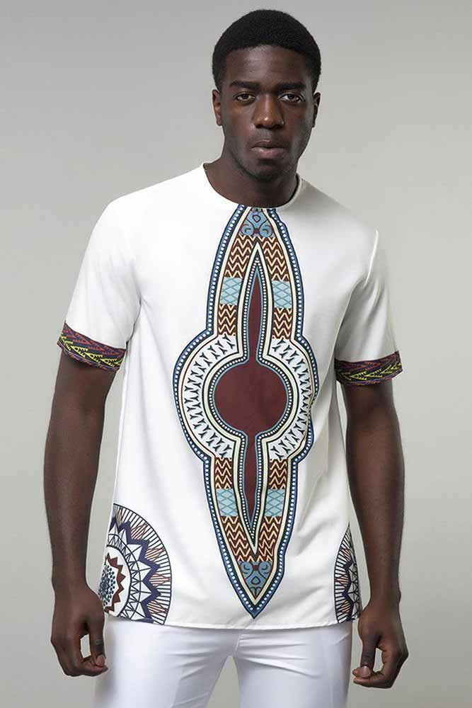 Dashikimall  Men Cotton Printed T-shirts