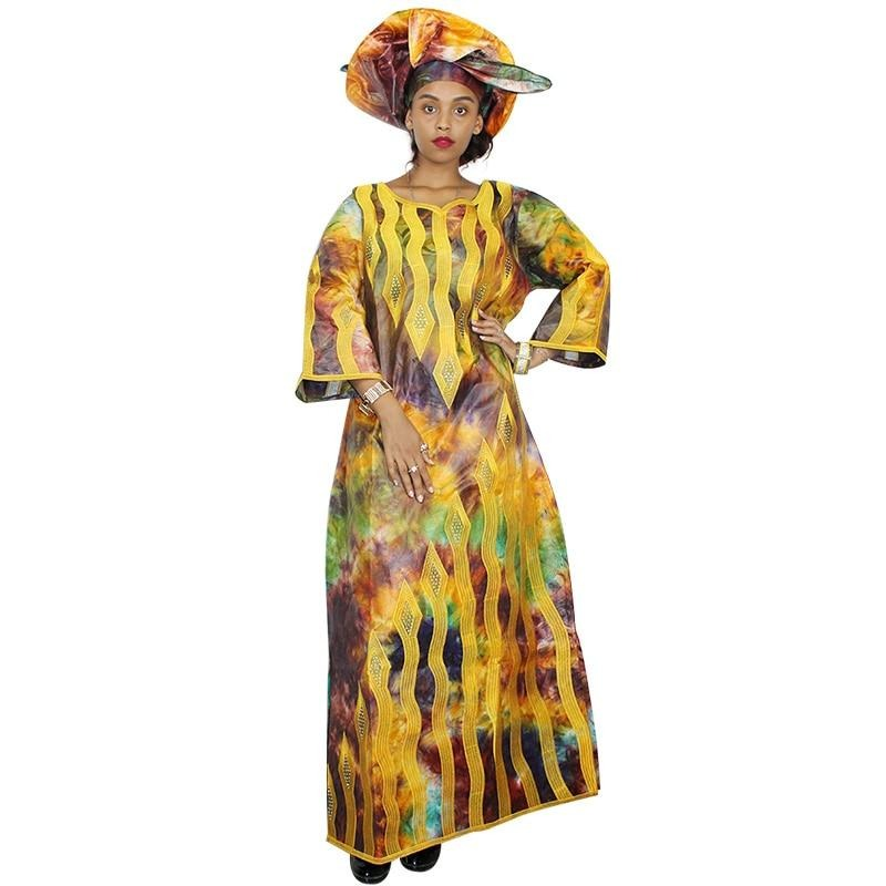 african basin riche embroidery dashiki african clothing 100% cotton african dresses for women