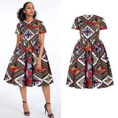 African Clothes Print Dresses Bazin Lace Indonesia Dress