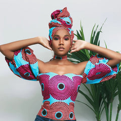 2020  African Clothes Woman Shoulder Off Dresses