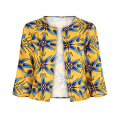 African Clothing Set for Women Cardigan Jacket Skirt Set