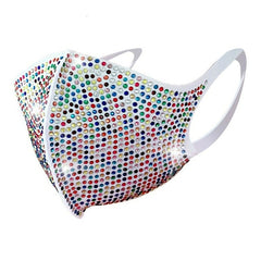 INS Hot Sale Colorful Luxury Rhinestone Mask