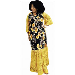 African Dresses For Women Dashiki Long Maxi Dress