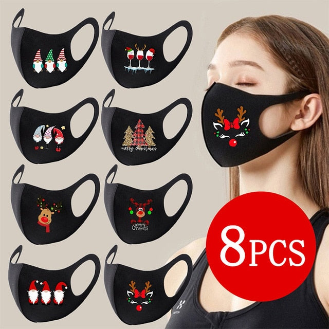 8 PCS Christmas Decoration Party Mask