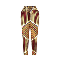 Women African Clothes Elastic Waist Pant