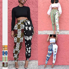 African Ladies Clothes 2020 Autumn Dashiki Print Trousers