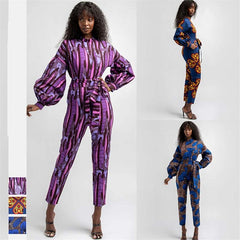 Fashion African Clothes 2020 Autumn Long Sleeve Jumpsuit