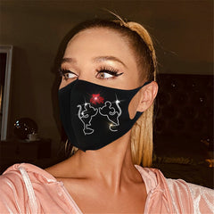 Luxury printed rhinestone jewelry hot diamond mask