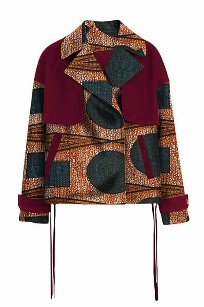 African Women  Wax Print Jacket