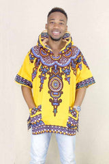Dashiki Yellow Mens Hipster Hip Hop Shirt