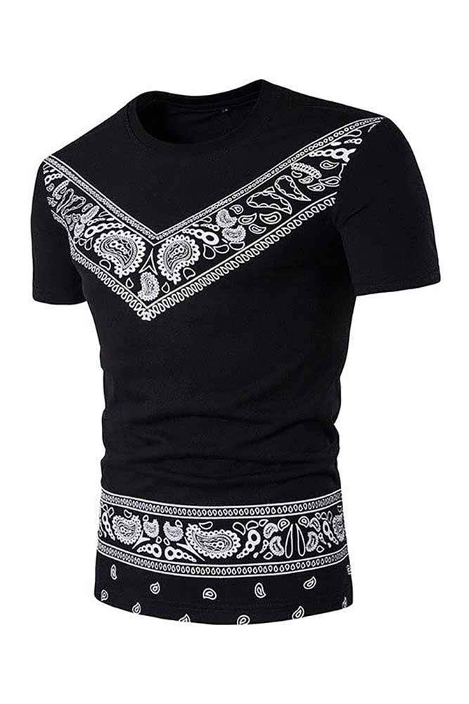 African Dashiki Casual O Neck T-shirt