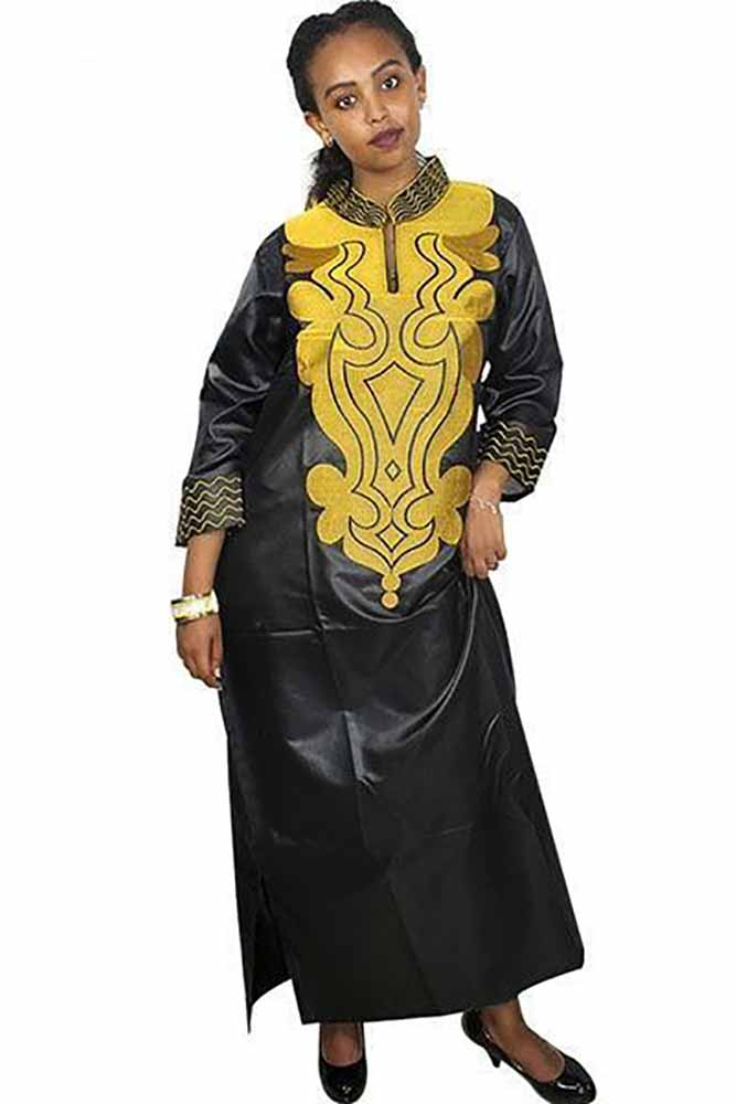 Dashikimall Women Traditional  Clothing Long Sleeve Dresses