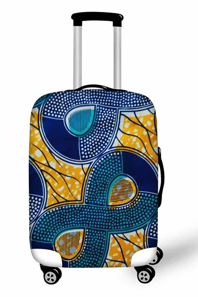 Dashikimall  Printed Waterproof Elastic Luggage Protective Cover
