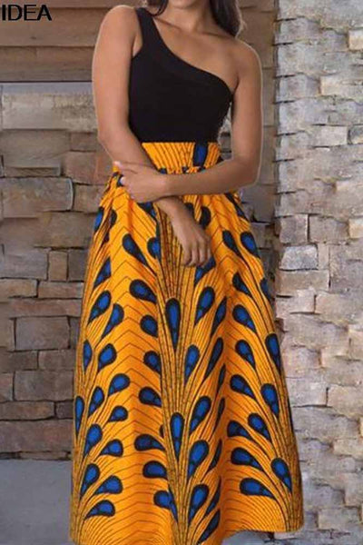 Dashiki Women  High Waist Vintage Long Skirt
