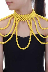 Dashikimall Women 8 Colors Chunky Statement Necklace