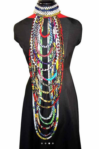 Ankara Wax Print Fabric Colorful Necklace