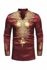Dashikimall Luxury 3d Printed African Dashiki Shirts