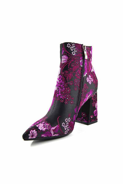 Shoes—Embroider Boots Female For  High Heels Retro Women Shoes