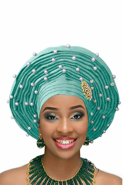 Dashikimall African Woman Velvet Headtie