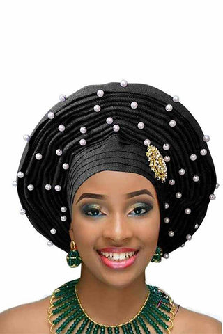 Dashikimall African Headtie Woman Velvet Turban