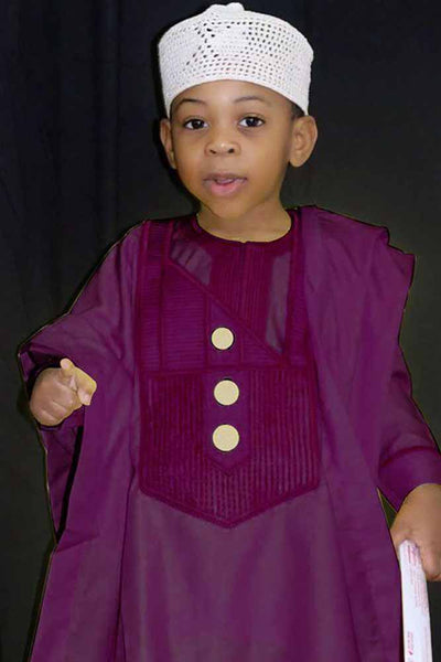 Dashiki Embroidery Kids Three Pieces Set