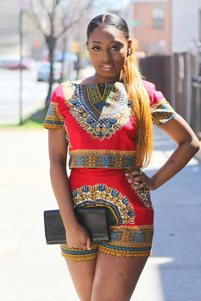 African Dashiki Bazin Printed Set