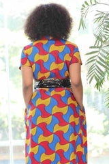 African Ankara Wax Print Dress
