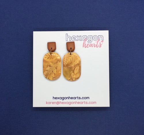 Dusted copper dogtags
