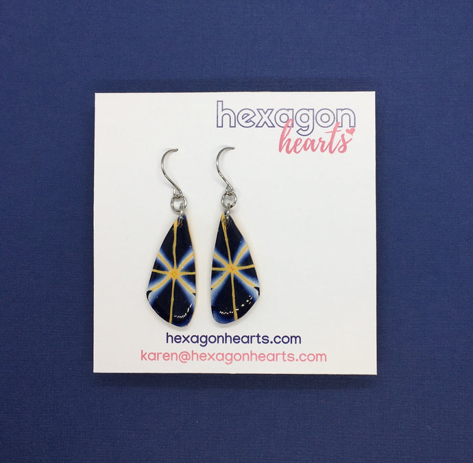 Mustard navy oblongs