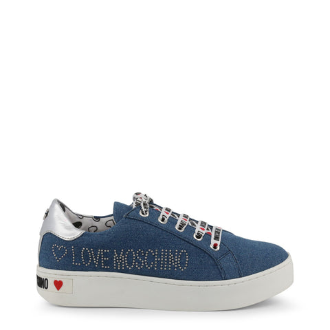 baskets femmes Love Moschino JA15243G17IH bleu