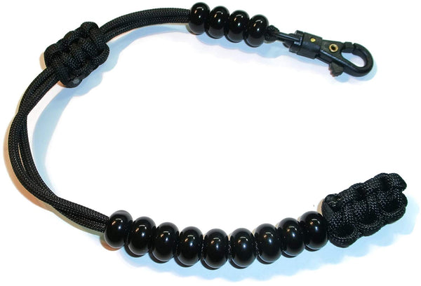 "Redvex Ranger Style Cobra Pace Counter Beads Paracord/Survival 13"" - Black"